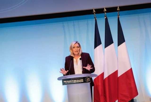 Marine Le Pen lors de la convention du Rassemblement national, le 12 janvier à Paris.