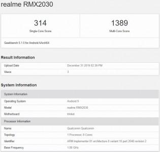 Realme 5i on Geekbench 5