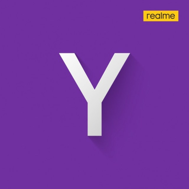 Realme's post with an image of the letter \