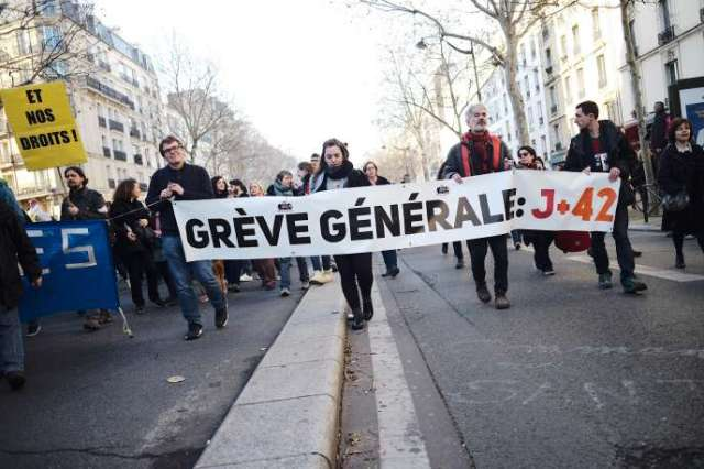 Manifestation contre la réforme des retraites à Paris, le 16 janvier