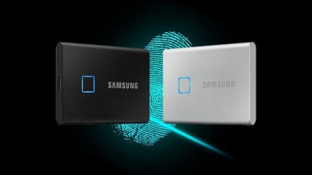Samsung made a fingerprint-secured portable SSD