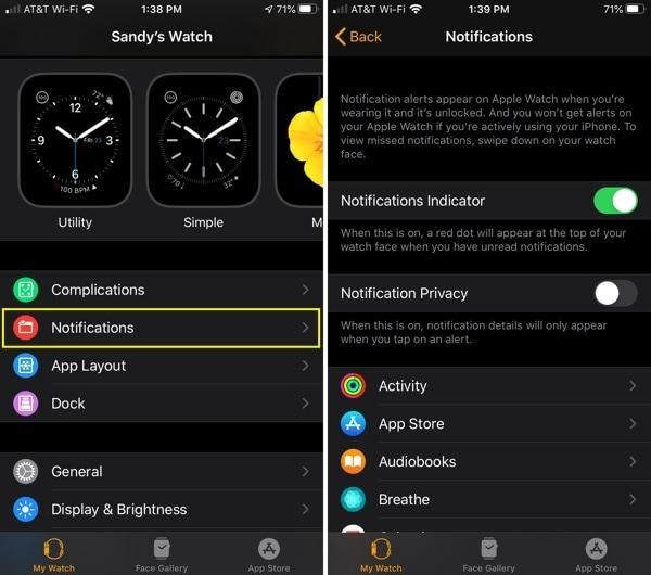 Apple Watch Notification Settings