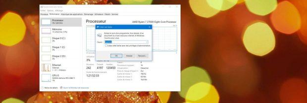 Windows 10 - Gestionnaire des tâches