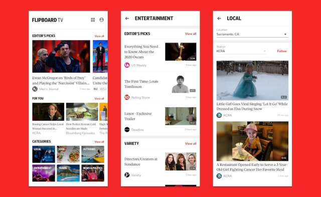 Samsung Galaxy S20 Flipboard TV