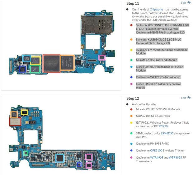Galaxy S7 - carte mère