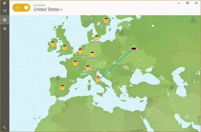 TunnelBear server map