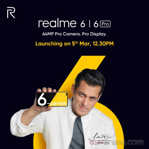 Realme 6 and 6 Pro are coming on March 5, fitness band will tag along