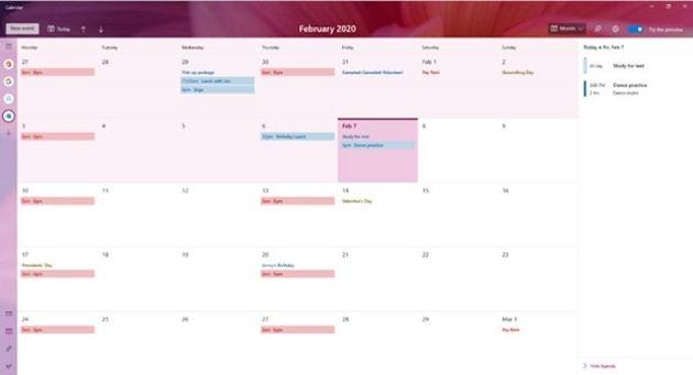 Windows 10 : un nouveau calendrier et une amélioration des paramètres graphiques