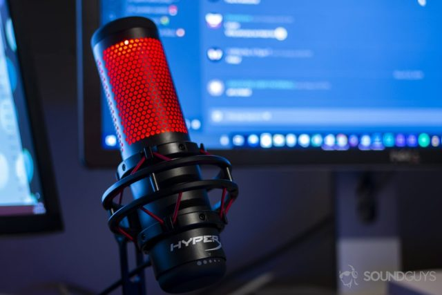 A photo of the HyperX Quadcast microphone - best gaming microphone