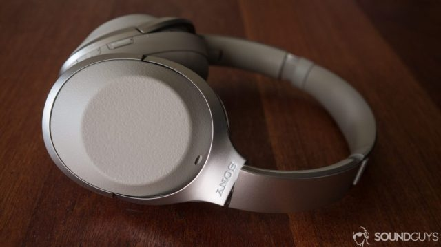 A photo of the Sony WH-1000X M2 wireless Bluetooth headphones on a table - one of the best noise cancelling headphones