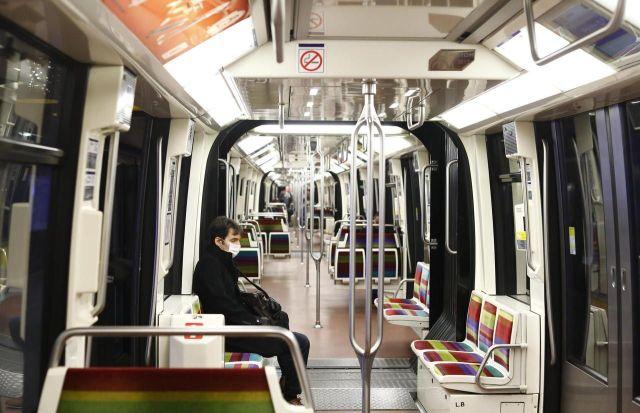 Le métro parisien déserté, le 18 mars dernier. LP/Olivier Corsan