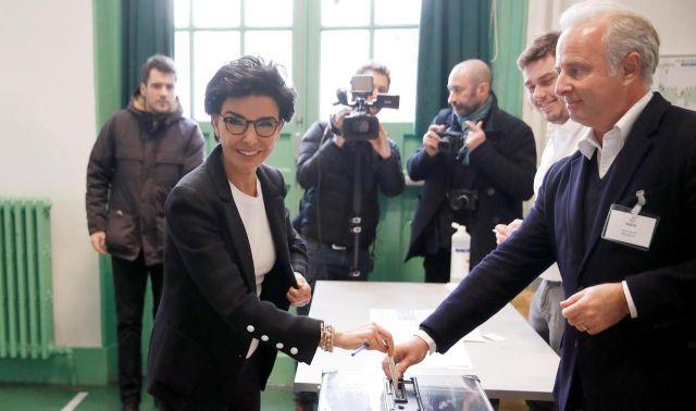 Rachida Dati, tête de liste LR, a voté dans le 7e arrondissement. /REUTERS