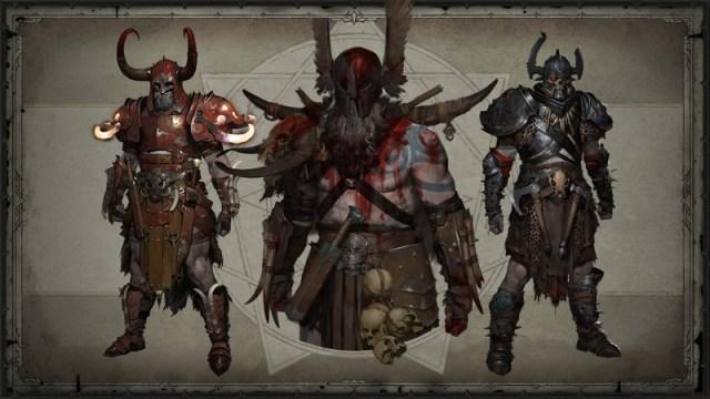 Barbarian Legendary gear in Diablo IV
