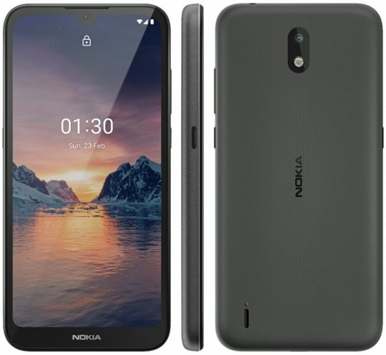 Nokia 1.3 leaked render reveals notched display and single rear camera