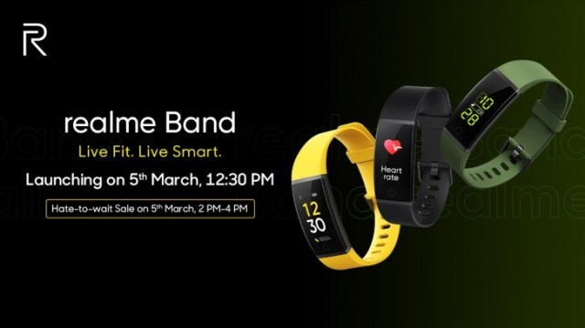 Realme Band unveiled with HR monitoring, notifications and 9 day battery life