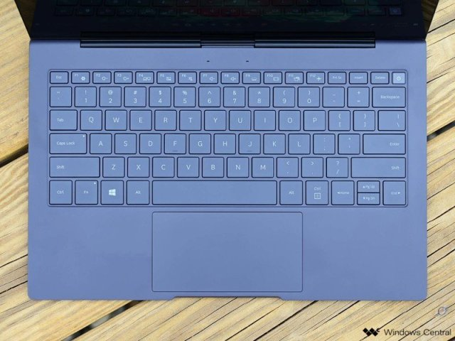 Samsung Galaxy Book S Review Keyboard Top