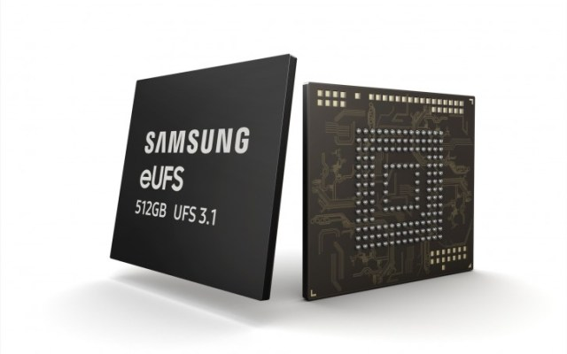 Samsung starts mass production of 512 GB eUFS 3.1