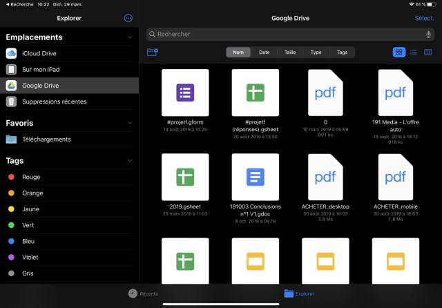 L'application Fichiers n'est pas aussi multi-tâche qu'un explorateur de fichiers, mais elle reste efficace