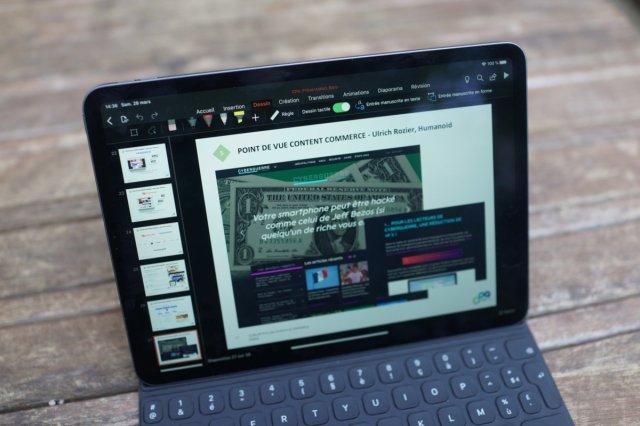 PowerPoint est top sur iPadOS pour réaliser des présentations