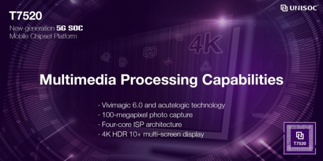 The Unisoc T7520 is the first chipset built on 6nm EUV, has an integrated 5G modem