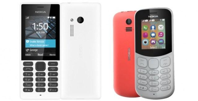 Original Nokia 150 (left) and Nokia 130 (right)