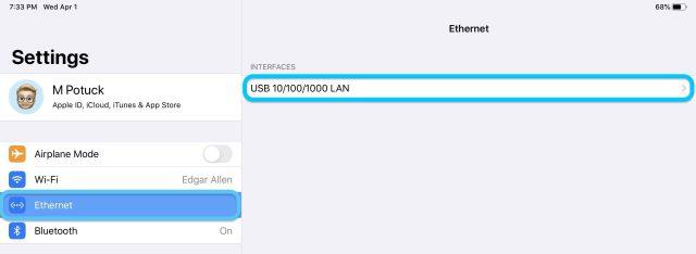 comment utiliser Ethernet avec la procédure pas à pas de l'iPad
