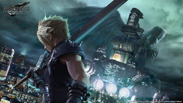Cloud Strife in Final Fantasy 7 remake