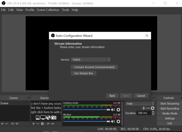 Obs Twitch Connection