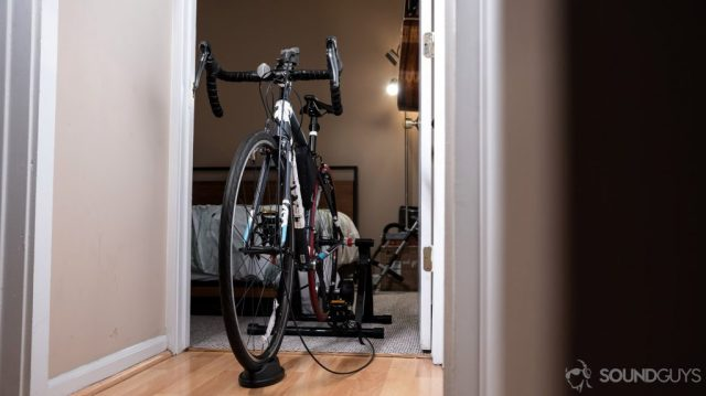 A picture of a Trek road bike to show how to work from home and take active breaks.