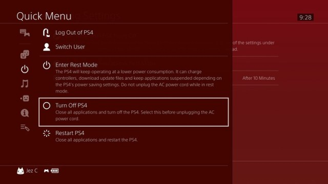 Ps4 Standby Mode Disable