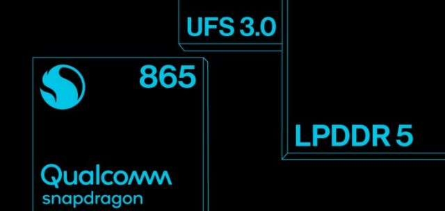 The OnePlus 8 phones will have an S865 chipset, LPDDR5 RAM and UFS 3.0 storage