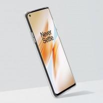 OnePlus 8 with transparent bumper case