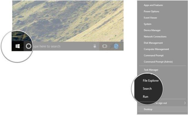 Right-click the Start button. Click Search.