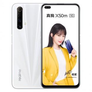 Realme X50m in Galaxy White color