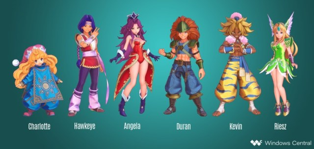 Trials Of Mana Characters