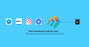Apps and content can be moved to a microSD card
