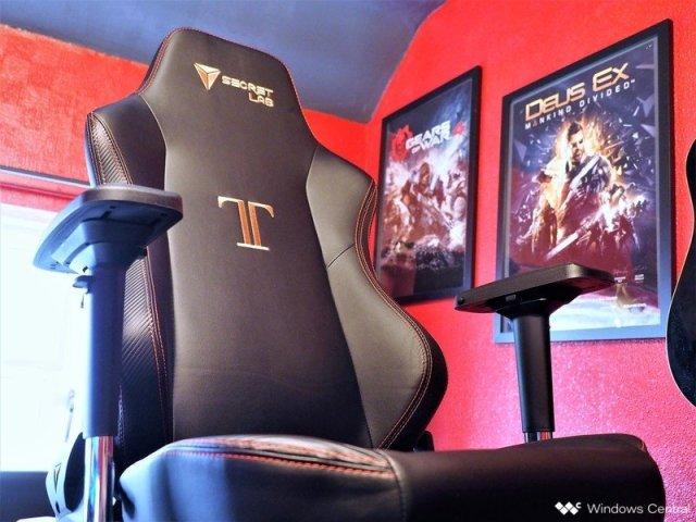 A Secretlabs Titan gaming chair.