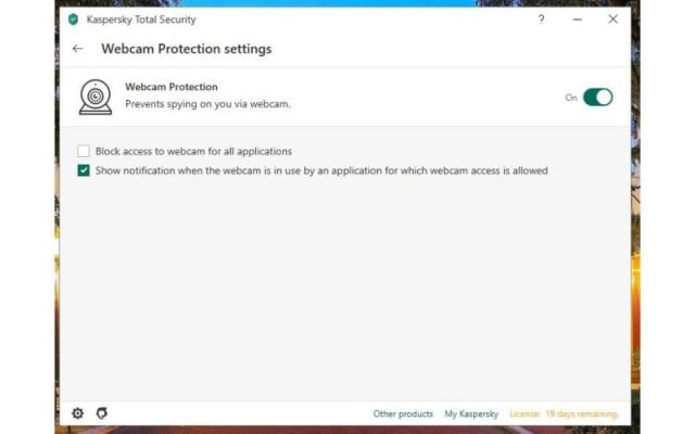 Kaspersky Total Security Webcam Monitoring Edited