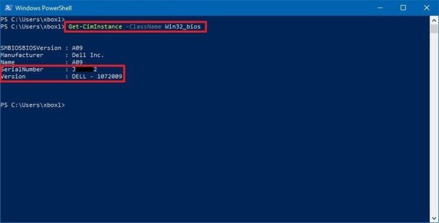 PowerShell PC model and serial number