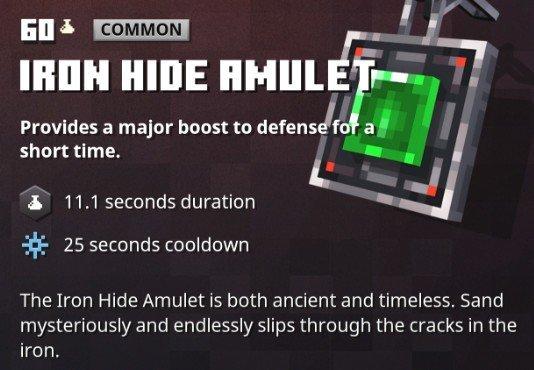 Minecraft Dungeons Iron Hide Amulet