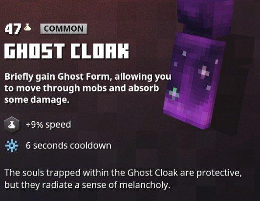 Minecraft Dungeons Ghost Cloak