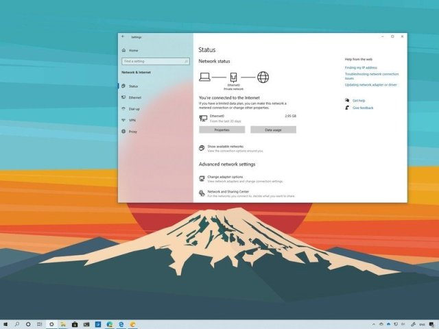 Windows 10 Settings changes on version 2004