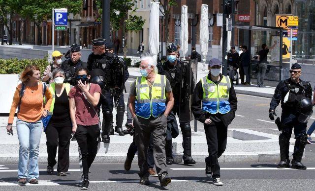 Ce samedi à Toulouse (Haute-Garonne), des Gilets jaunes ont bravé l'interdiction de manifester.MaxPPP/PhotoPQR/« la Dépêche du Midi »/Michel Viala