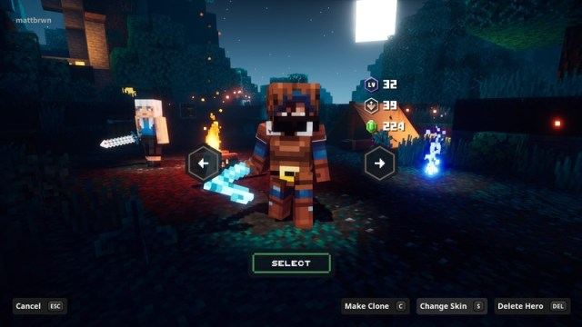 Minecraft Dungeons Cross Play Change Hero