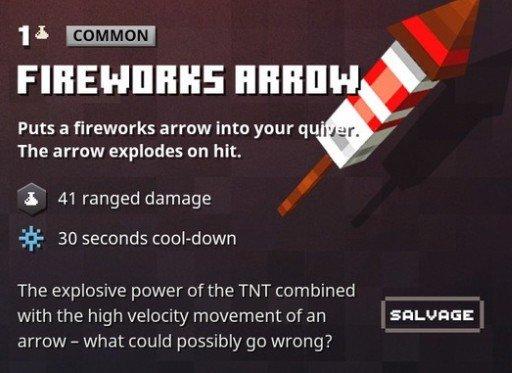 Minecraft Dungeons Fireworks Arrow