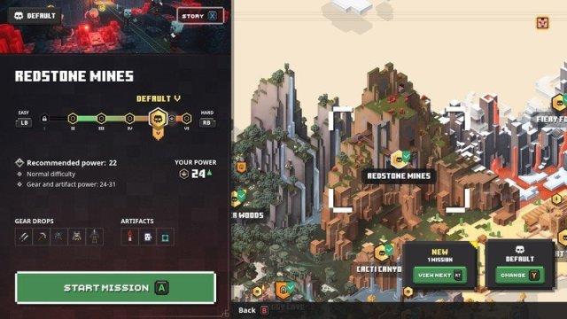 Minecraft Dungeons Redstone Mines Map