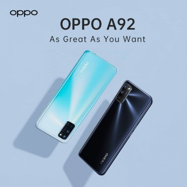 Oppo A92 listed in Indensian store with complete specs and prices