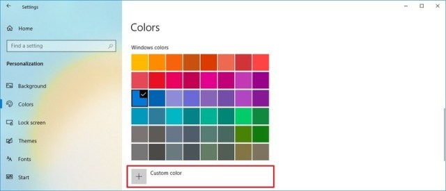Create custom color accent option