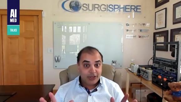 Capture d\'écran d\'une vidéo de la chaîne YouTube AIMed Events du 11 mai 2020 dans laquelle Sapan Desai intervient.