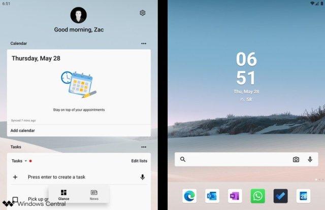 Microsoft Launcher Dual Screen